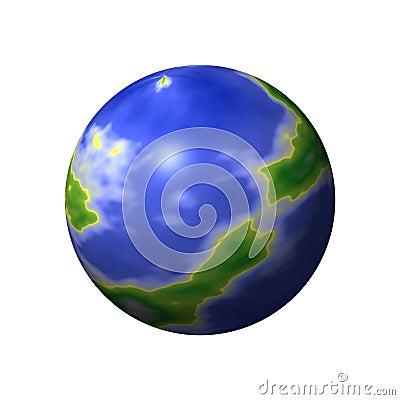 Round World Map