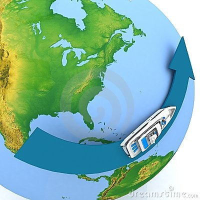 Round-world voyage
