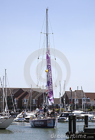 Round the World Yacht Race Editorial Photography