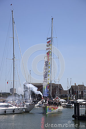 Round the World Yacht Race Editorial Stock Photo