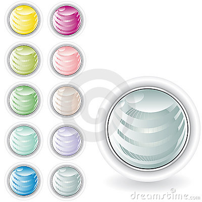 Rounded buttons in pastel tint