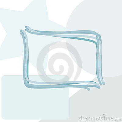 Rounded rectangle copy space window abstract