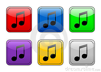 Rounded square button music