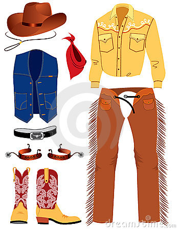 Roupa do cowboy