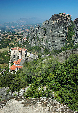 Free Roussanou Rock Monastery,Meteora,Greece,Balkans Stock Photography - 15944812