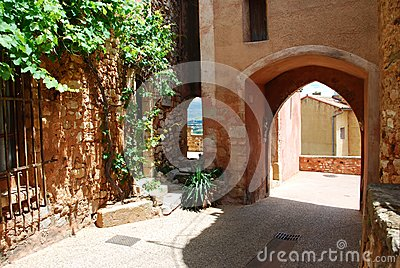 Roussillon village, France