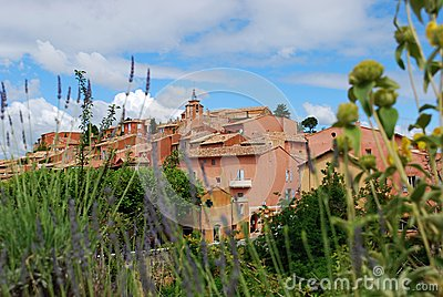 Roussillon village, France