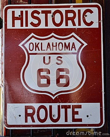 Free Route 66 Sign In Oklahoma. Royalty Free Stock Images - 106934739