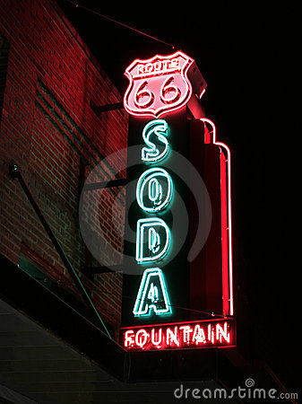 Route 66 Soda Fountain Sign