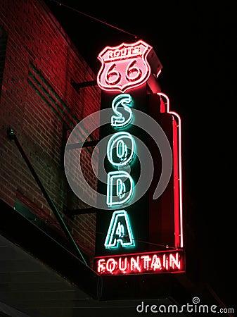 Route 66 Soda Fountain Sign