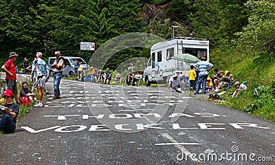 Route au d Aubisque de fléau Image stock éditorial