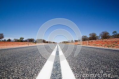 Route droite morte