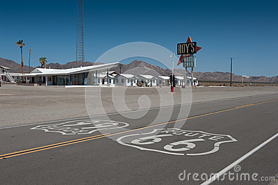 Route 66 Editorial Stock Photo