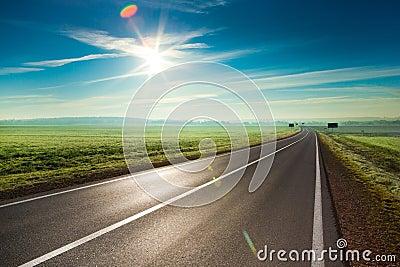 Route ensoleillée