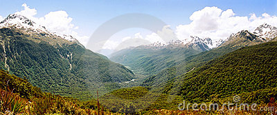 Routeburn track panorama, New Zealand