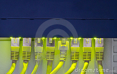 Router and network cables