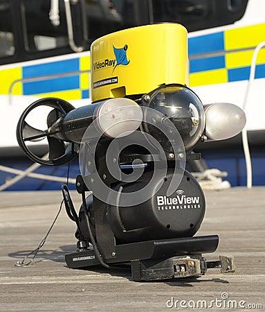 ROV robot submarine Editorial Stock Photo