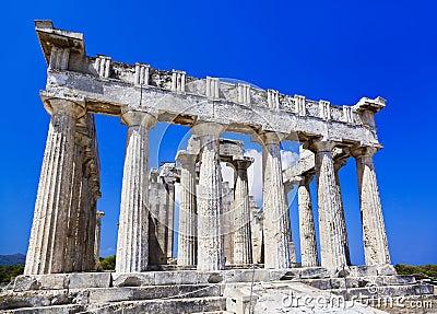 Rovine del tempiale sull isola Aegina, Grecia