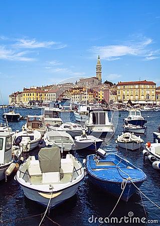 Free Rovinj Harbour Royalty Free Stock Photography - 26264777