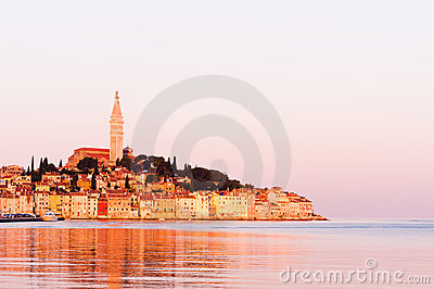 Rovinj, old costal town of Croatia