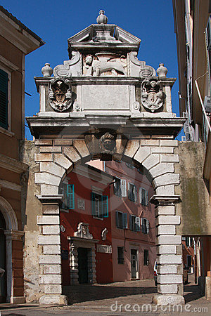 Free Rovinj Roman Door Stock Photography - 9313412