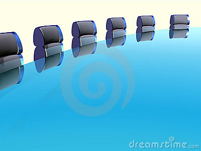 Row of arm-chairs