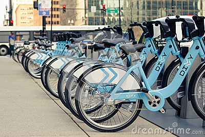 Row of bicycles Editorial Image