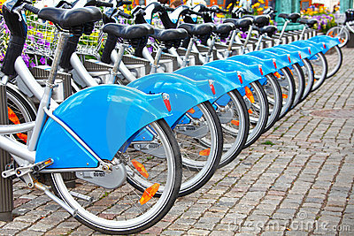 Row of bikes / bicycles