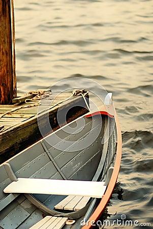 Row boat at the dock 02