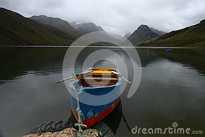 Row boat on a lake