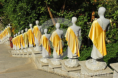 Row of Buddha Statues Editorial Image