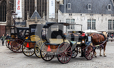 Row of Carriages Editorial Image