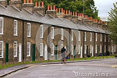 Row of characteristic english houses
