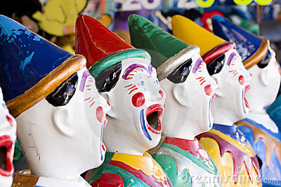 Row of clowns