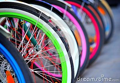Bike tires detail