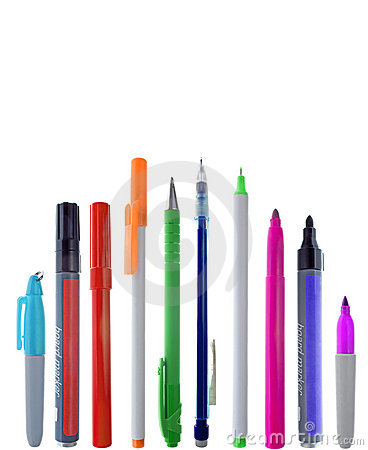 Row of colorful stationary