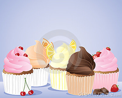 Row of cup cakes