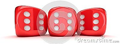 Row of dice