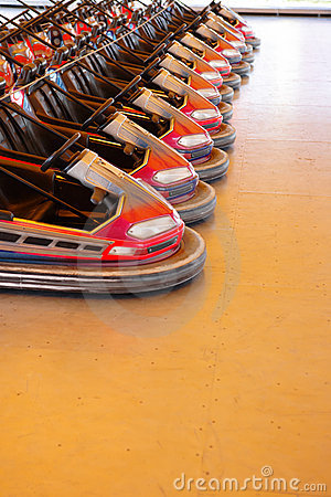 Row of dodgems