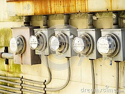 Row of Electric Meters