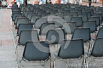 Row of empty seats