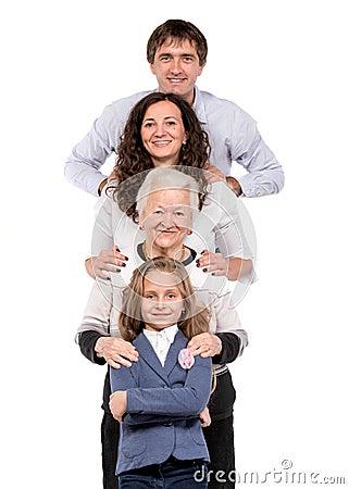 Row of family