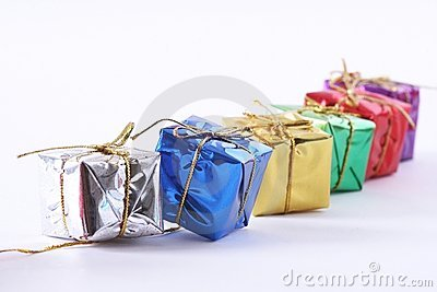 Row Of Gift Boxes