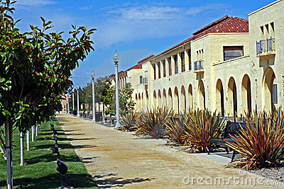 Row of historic naval barracks