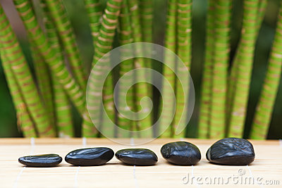 Row of hot stones