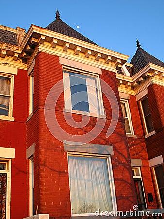 Free Row House Sunset Stock Photography - 4902852