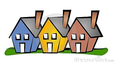 Row of Houses Clip Art House
