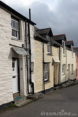 A row of houses in Cornwall