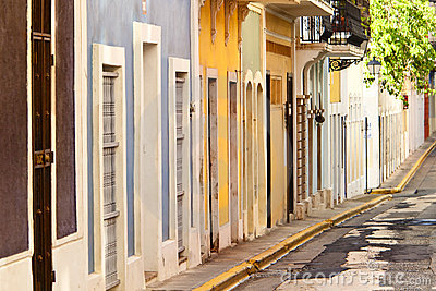 Row houses in san juan