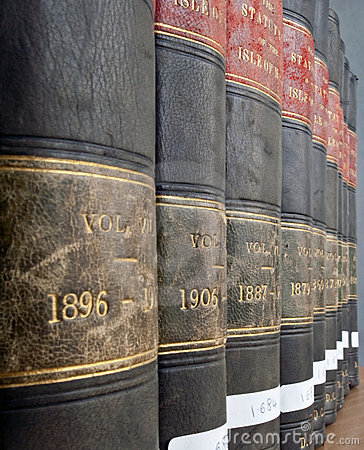 Row of Legal / Law books from 19th century